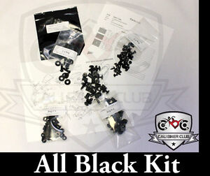 Suzuki GSX-R600 2001-2003 BLACK Fairing Bolts GSXR 600 COMPLETE Bolt Kit 01 02