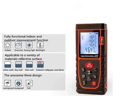 60m Handheld Digital Laser Distance Meter Range Finder Measure Diastimeter 9key