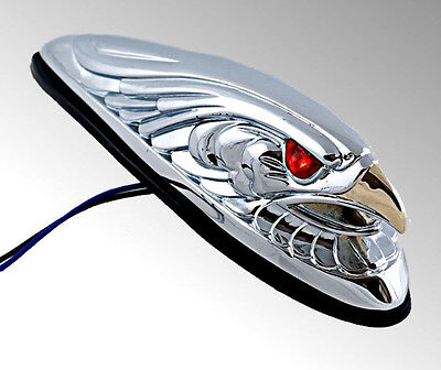 Harley Chrome Lighted Front Fender Eagle For Goldwing 342-137L Valkyrie