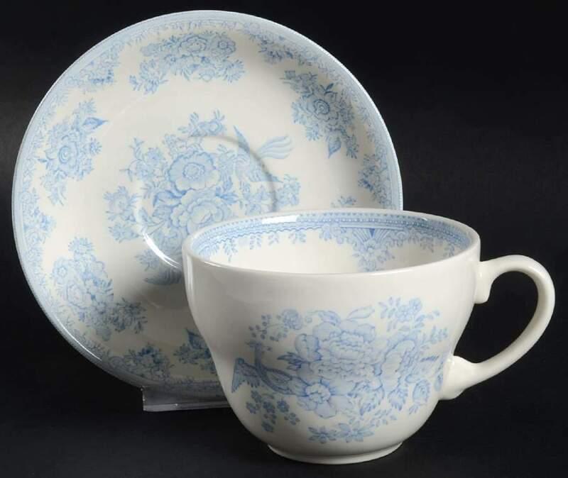 Burgess & Leigh ASIATIC PHEASANTS BLUE Breakfast Cup & Saucer 5594338