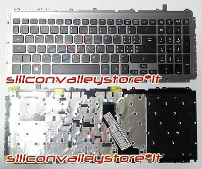 Tastiera Italiana completa di Frame Grigio per Acer Aspire Ultrabook M3 M3-581T