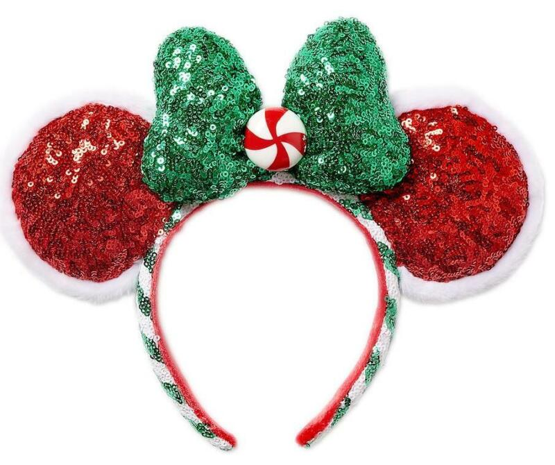 Disney Parks 2020 Holiday Peppermint Minnie Mouse Ears Hat NWT