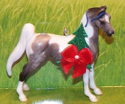 CM Stablemate Paint Pinto Racking Saddlebred Breyer Horse Christmas Ornament
