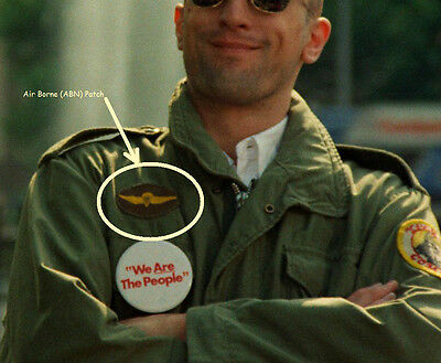 FANCY DRESS HALLOWEEN COSTUME PARTY MOVIE PROP: Taxi Driver M-65 Jacket Patch #2 (Taxi Driver Halloween Costume)