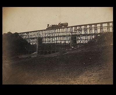 1862 Civil War Railroad Bridge PHOTO Potomac Creek Fredericksburg Railroad Train
