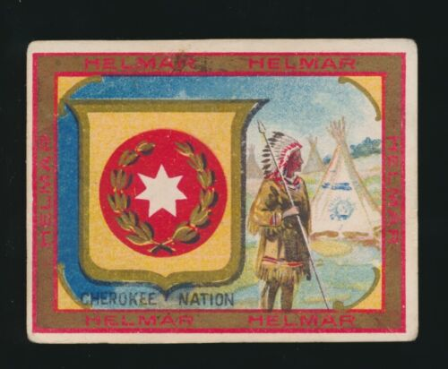 1910 T107 Helmar Cigarettes SEALS OF WORLD -Cherokee Nation (Native American)