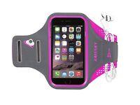 Girls Pink Jogging / Running Armband - Adjustable for iPhone Samsung & More