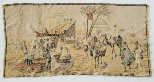 Vintage French Arabian Market Scene Wall Hanging Tapestry (116X58cm)