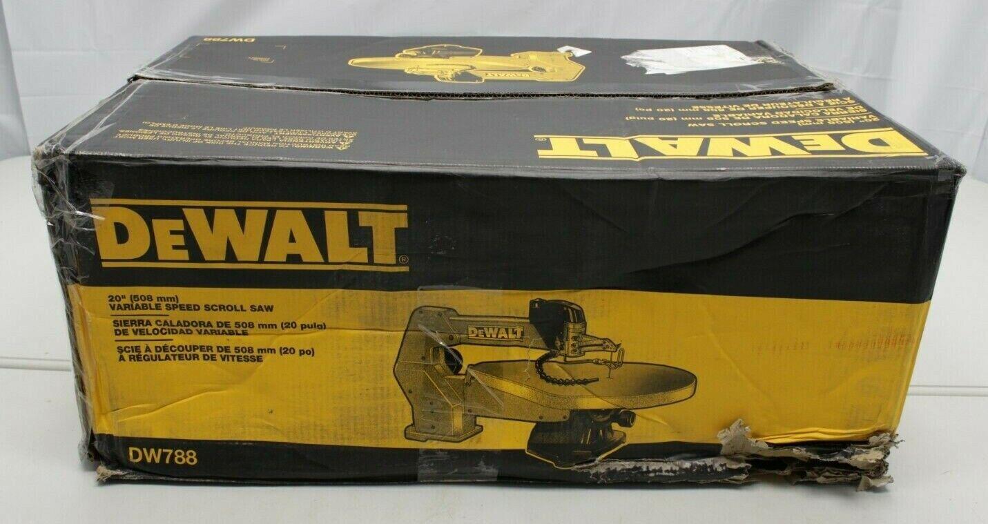 Dewalt DW788 Scroll Saw Variable Speed Electric Woodworking
