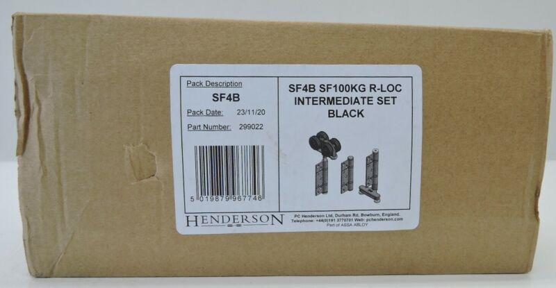 Henderson SF4 SF100KG R-LOC Intermediate Hanger Set (BLACK) SF4B NEW