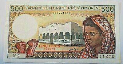 Comores 500 Francs Femme - Bâtiment - 1976  N.2 UNC