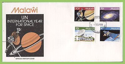 Malawi 1992 United Nations Space Year set on First Day Cover