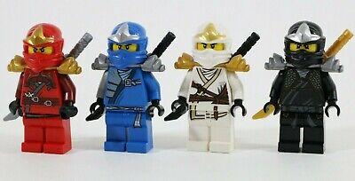 LEGO NINJAGO ZX NINJA BATTLE TEAM MINIFIGURE X4 COLE ZANE KAI JAY VGC