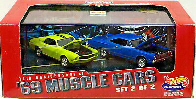 Hot Wheels 100% Collectibles '69 MUSCLE CARS Set #2 Limited Edition (2) Car Set