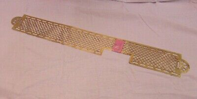Antique Brass Finger Plate Pierced Victorian Old French 7
