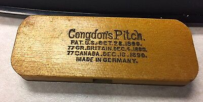 Vintage 1890s Congdon's Pitch Pipe Harmonica Made in Germany w/Original Box