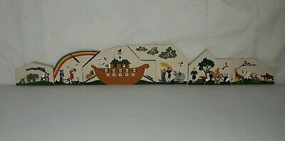 Cats Meow Village 1995 Noah's Ark # 258 & 1996 Noah' Sons #272 total 6 pieces