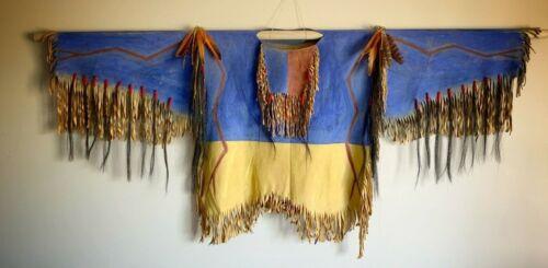 Native American Indian Made Chief Crazy Horse Inspired Buck skin War Shirt