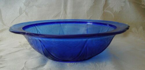 Royal Lace Cobalt Blue Round Berry Serving Bowl