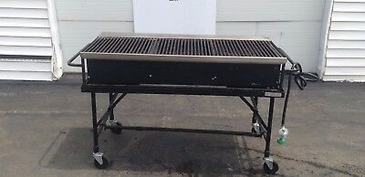 "Big John A3P 60"" Propane Grill Best Portable Gas BBQ Rolling Barbecue Charcoal"