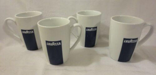 SET OF 4 LAVAZZA BY ONEIDA PORCELAIN COFFEE MUGS CAPPUCCINO CUPS DISCONTINUED
