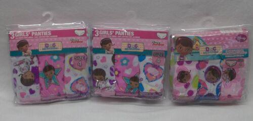 Girls Disney Doc Mcstuffins Size 4 Panties Underpants 9 Pairs (3 Packs Of 3) NIP