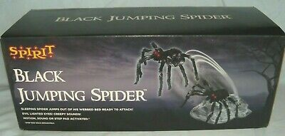 Spirit Halloween Jumping Spider Animated Decoration (NEW IN BOX) SHIPS SAME DAY