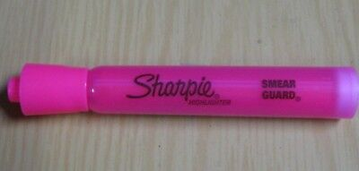 Lot Of Twelve 12 Sharpie Fluorescent Pink Highlighters Chisel Tip New