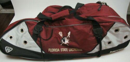 FSU Lacrosse Players Gear Bag Helmet Gloves