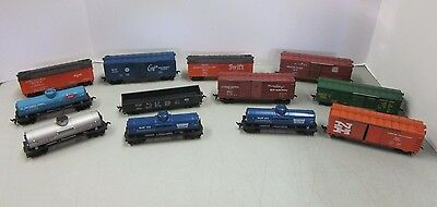 Lot Of 12 Varney Train Cars Ho Scale Gulf Oil  Dow Chemical  Becco