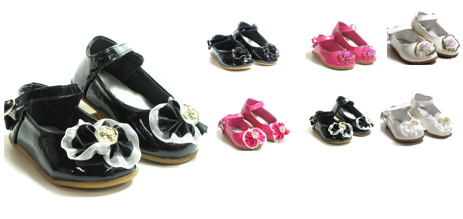 Baby Toddler Girls Studded Dress Shoes Ballet Flats Slip-On Pageant Sz 4-9