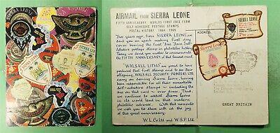 DR WHO 1969 SIERRA LEONE FDC STAMP ANIV DIE CUT COMBO POSTCARD  g20101
