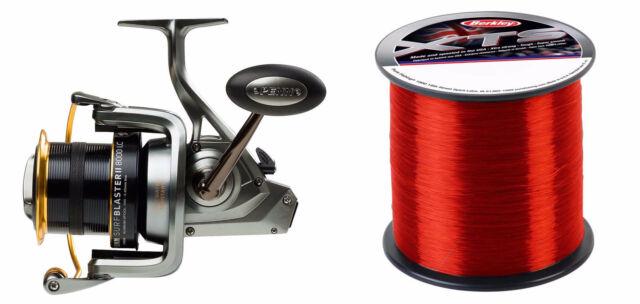2017 Penn Surfblaster 8000 Sea Spin Fishing Fixed Spool Reel + 18lb Berkley Line