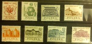 POLAND-STAMPS MNH Fi1448-55 SC1334-41 Mi1597-04 - VII cent. of Warsaw-1965,clean - <span itemprop=availableAtOrFrom>Reda, Polska</span> - POLAND-STAMPS MNH Fi1448-55 SC1334-41 Mi1597-04 - VII cent. of Warsaw-1965,clean - Reda, Polska