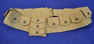 EXCELLENT! RARE US M1912 EAGLE SNAP CAVALRY BANDOLEER FOR 1903 SPRINGFIELD RIFLE