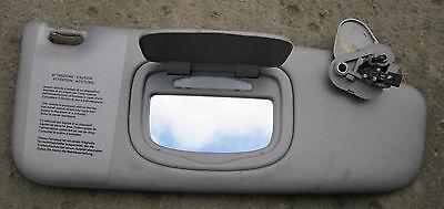 ALFA ROMEO GIULIETTA 2010-15 GENUINE OS RH DRIVERS SUNVISOR & VANITY MIRROR GREY