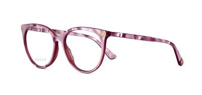 New Authentic Gucci Frame GG0093O 004 Pink Optical Eyeglasses Frame Size 53mm