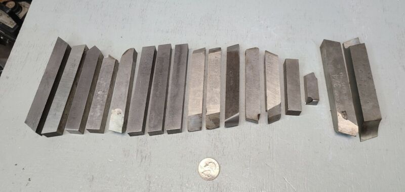 "17 pc Lot VTG HSS machinist lathe tools 5/8"" x 4-1/2"",  REX M2, REX AAA, VASCO"