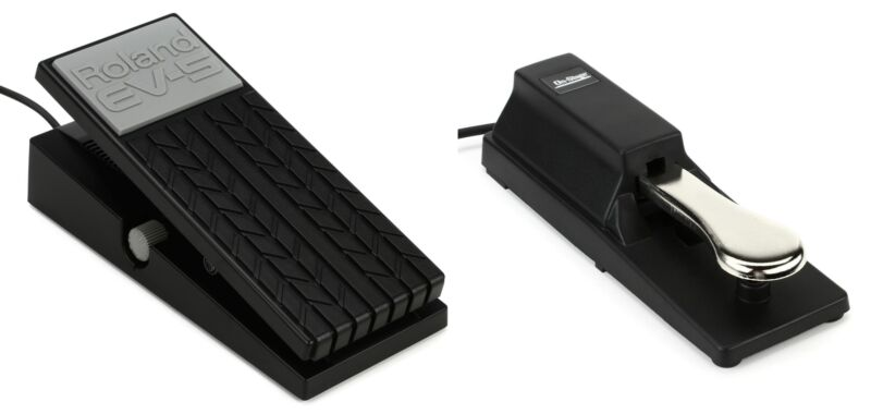 Roland EV-5 Expression Pedal + On-Stage Stands KSP100 Keyboard Sustain Pedal