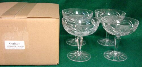 Gorham  ROSEWOOD OLDER Champagne Glasses SET OF FOUR More Items Here MINT IN BOX