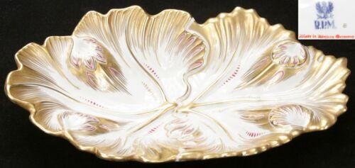 Vintage German RPM Royal Porzellan Manufaktur Gold Gilt Porcelain Dish Germany
