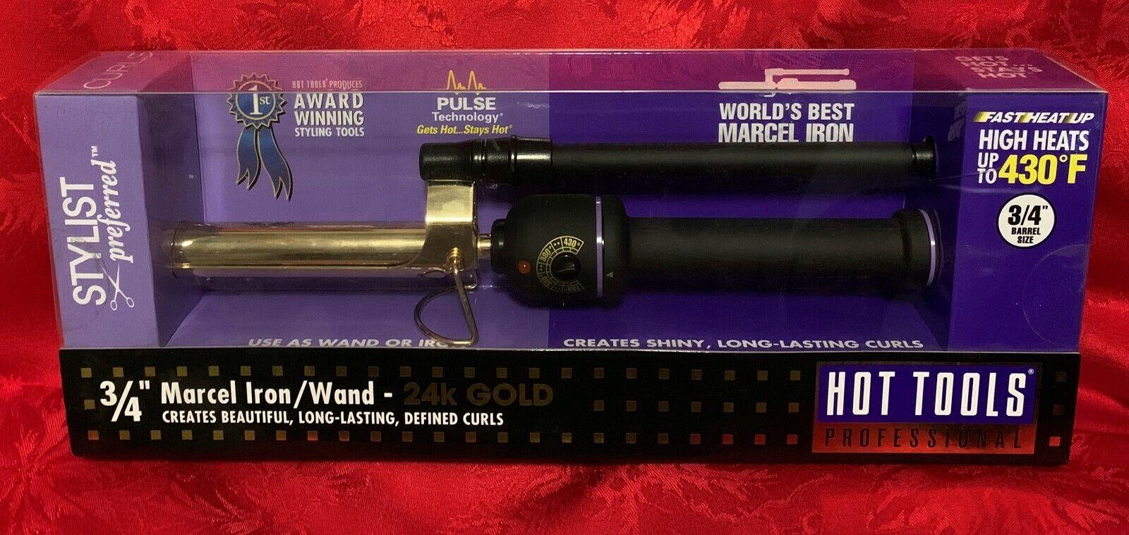 "Hot Tools Salon Curling Iron 24k Gold - 3/4"" Model 1101"