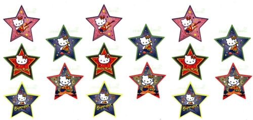 Sanrio Hello Kitty Glittery ROCK POP STAR 15 Large Stickers