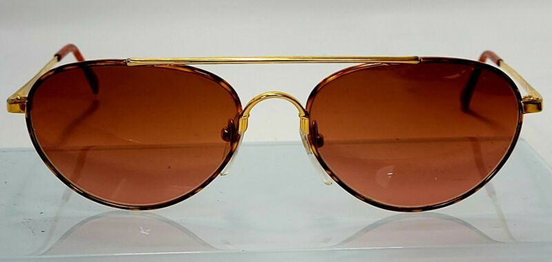 Vintage SERENGETI Drivers  Aviator Pilot Sunglasses Gold Tortoise Frame