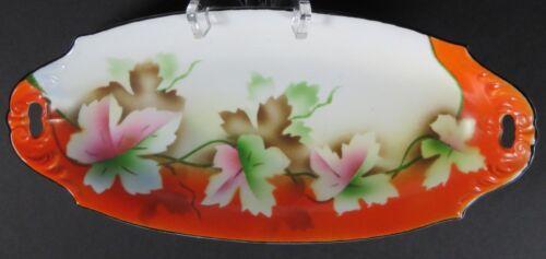 Prov Saxe ES Hand Painted Germany Porcelain Erdmann Schlegelmilch Relish Dish