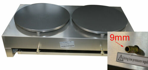 Commercial Double Pancake Maker Gas Crepe Machine Pan Griddle Machine Cook