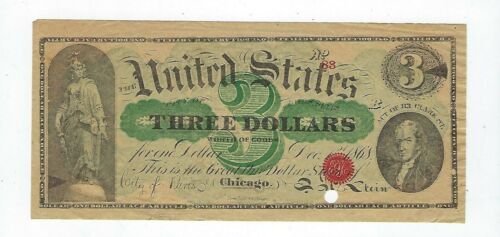 Chicago, IL- City of Paris-E.H. Stein, Clothing $3 Advertising Note Dec. 1, 1868