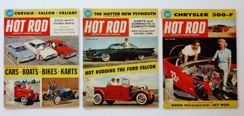 3 COMPLETE ~ HOT ROD MAGAZINE : FEBRUARY - MARCH - APRIL 1960