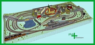 HO Set 3,5 x 3,3 m Piko H0 A-Gleis Gleisplan A9 für Anlagenplanung