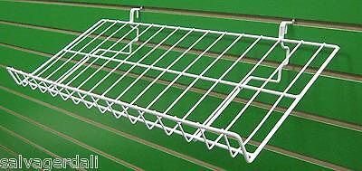 Candy Shelf Shelves Rack Slatwall Grid Pegboard Display White Lot Of 20